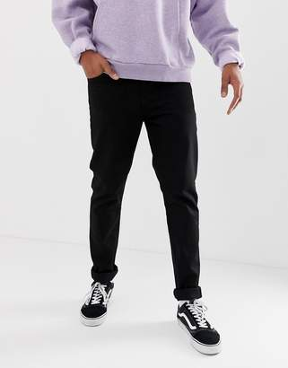 Weekday sunday tapered jeans black