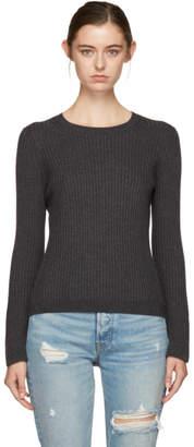Alexander Wang Grey Hook Eye Crewneck Sweater