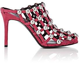 Alexander Wang Women's Sadie Embellished Suede Sandals - Pink