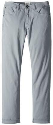 Hudson Blake Slim Leg Roll Cuff Sateen Pants in Powder Boy's Casual Pants