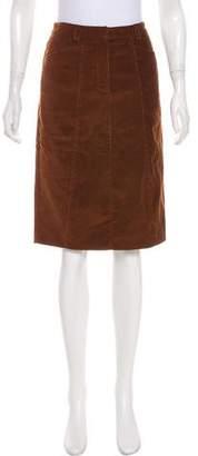 Derek Lam Corduroy Knee-Length Skirt w/ Tags