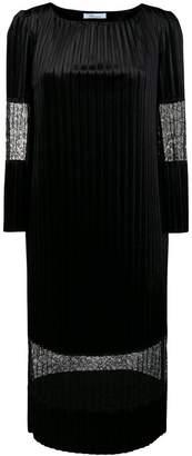 Blumarine lace-embellised midi dress