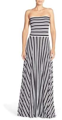 Felicity & Coco Stripe Strapless Maxi Dress