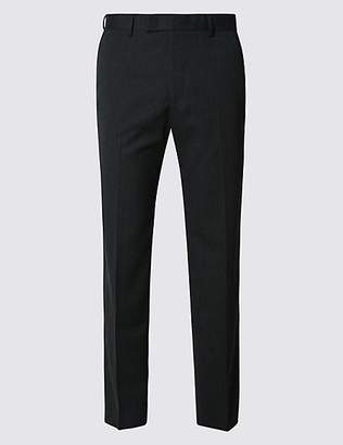 M&S Collection Charcoal Modern Slim Fit Trousers