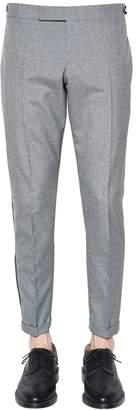 Thom Browne Wool Blend Crepe Pants W/ Selvedge