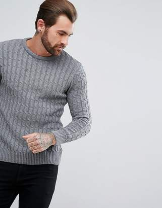 Ringspun Cable Knitted Sweater