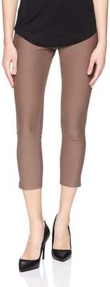Hue HUE, Women's, Women's Ankle Slit Essential Denim Capri Leggings, Seal Gray