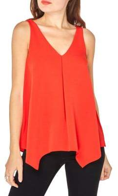 Dorothy Perkins Sleeveless Handkerchief Hem Blouse