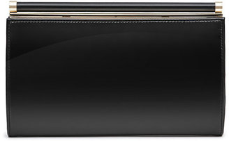 Christo Glossy Leather Clutch $180 thestylecure.com