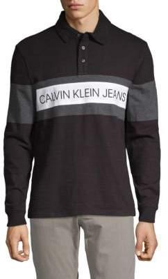 Calvin Klein Jeans Logo Cotton Polo