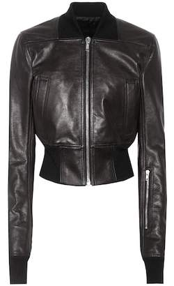 Rick Owens Ribwaist leather jacket
