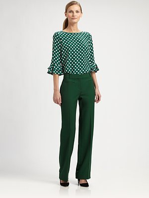 Kate Spade Silk Polka-Dot Top