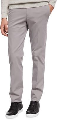 Ermenegildo Zegna Flat-Front Garment-washed Pants