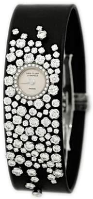 "Van Cleef & Arpels Rosee"" 18K White Gold Diamond Strap Watch"