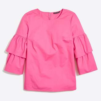 J.Crew Tiered bell-sleeve top