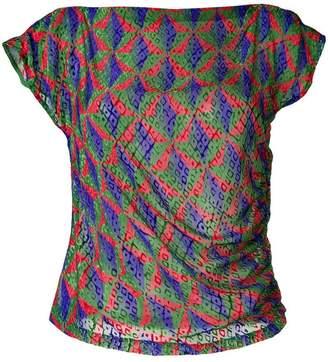 Pinko geometric patterned top
