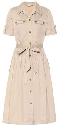 Tory Burch Collared cotton twill dress