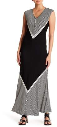 Max Studio Chevron Stripe Maxi Dress