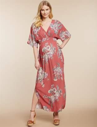 Jessica Simpson Motherhood Maternity Smocked Waist Maternity Maxi Dress
