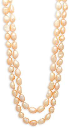Kenneth Jay Lane Women's Simulated Pearl and Crystal Two-Row Necklace