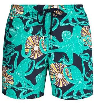 Vilebrequin Moorea Octopussy And Coquilages Print Swim Shorts - Mens - Blue Multi