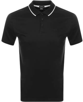 HUGO BOSS Piket Polo T Shirt Black