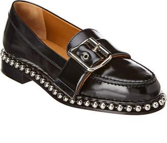 Chloé Buckle Studded Leather Loafer