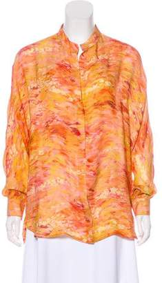 Haute Hippie Silk Watercolor Blouse