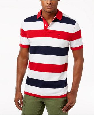 Tommy Hilfiger Men's Classic-Fit Striped Cotton Polo $59.50 thestylecure.com