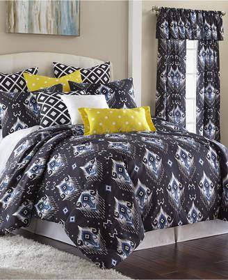Colcha Linens Blue Falls Comforter Set Super King Bedding