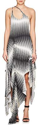 J.W.Anderson Women's Striped Jersey Asymmetric Dress