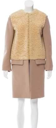 Celine Shearling & Wool Coat