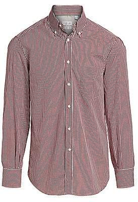 Brunello Cucinelli Men's Gingham Check Button-Down Shirt