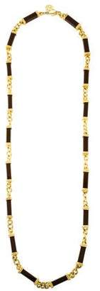 Tory Burch Resin Chain-Link Necklace
