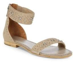 Frye Carson Deco Zip Leather Ankle-Strap Sandals