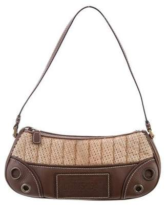 Christian Dior Leather-Trimmed Ponyhair Shoulder Bag