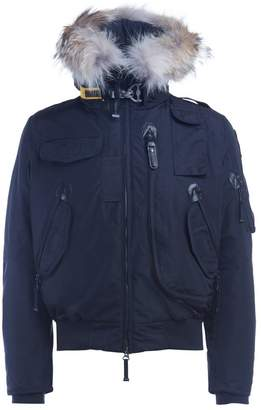 Parajumpers Down-filled Nylon Gobi Blue Bomber With Trimmed Fur Hood