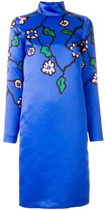Marni floral print long sleeve dress
