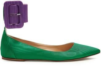ATTICO Julia ankle-strap faille pumps