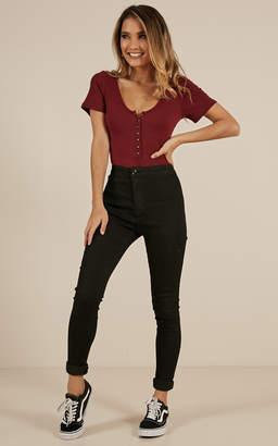 Showpo Madeline jeans in black