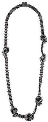 Burberry Knotted Chain Necklace