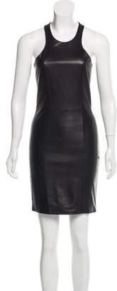 Mason Leather-Paneled Sheath Dress