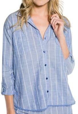 PJ Salvage Pinstripe Button-Down Pajama Top