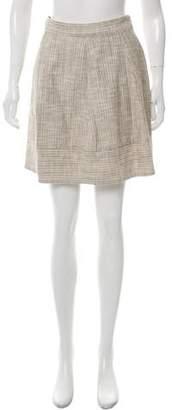 L'Agence Pleated Metallic Skirt