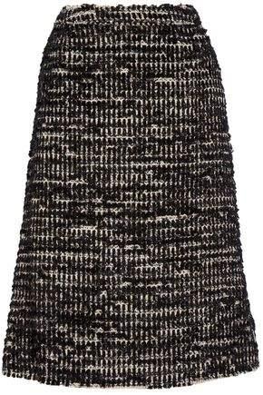 Metallic Tweed Midi Skirt