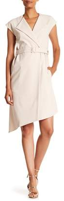 Tibi Structured Crepe Trench Coat Dress