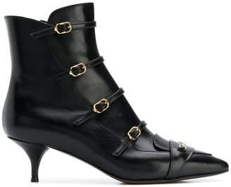 L'Autre Chose multiple buckle ankle boots