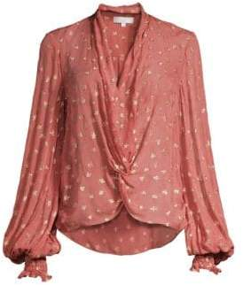 Caroline Constas Bette Metallic Silk Blouse