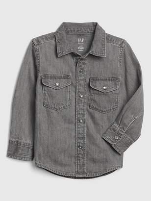 Gap Denim Long Sleeve Shirt