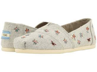 Toms Alpargata (Drizzle Grey Chambray/Embroidery